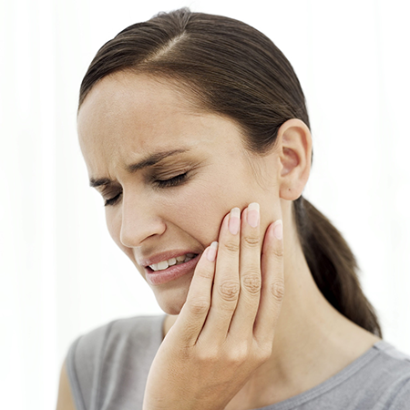 Больной зуб под пломбой